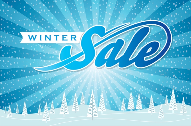 Winter sale poster design, Background. Creative business promotional vector.